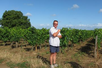 Stephane in his vineyard