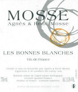 Domaine Mosse Les Bonne Blanches