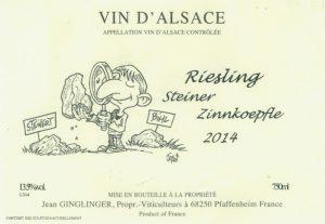 Ginglinger-Riesling-Steiner-Zinnkoepfle
