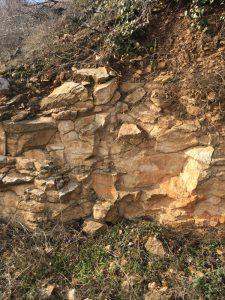 Limestone outcrop Alsace