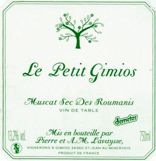 Petit Gimios Muscat Roumanis