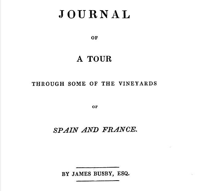 Busby Tour through vineyards of spain and france 1833