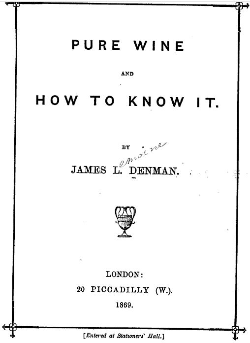 Denman pure wine cover