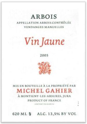 Gahier-Vin-Jaune-2005-framed