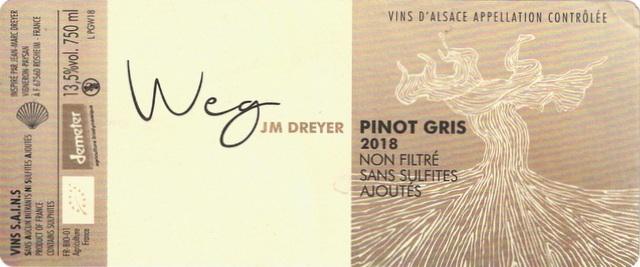 Dreyer Weg Pinot Gris 2018